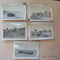 Fotografía antigua: PUNTA FRIA, BALNEARIO PIRIAPOLIS, MALDONADO URUGUAY 1950 - 5 PHOTOS. Lote 31827302