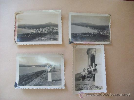 BALNEARIO PIRIAPOLIS, CERRO SAN ANTONIO, URUGUAY 1950 - 4 PHOTOS (Fotografía Antigua - Fotomecánica)