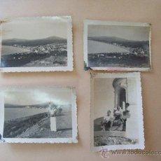 Fotografía antigua: BALNEARIO PIRIAPOLIS, CERRO SAN ANTONIO, URUGUAY 1950 - 4 PHOTOS. Lote 31827314
