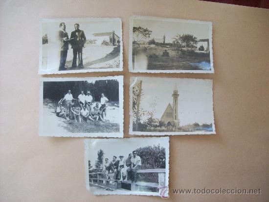BALNEARIO SALINAS CANELONES, URUGUAY 1948 - 5 PHOTOS (Fotografía Antigua - Fotomecánica)