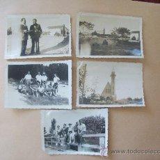 Fotografía antigua: BALNEARIO SALINAS CANELONES, URUGUAY 1948 - 5 PHOTOS. Lote 31839912