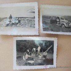 Fotografía antigua: PUNTA DEL ESTE, BARRA MALDONADO, URUGUAY 1951 - 3 PHOTOS. Lote 31839923
