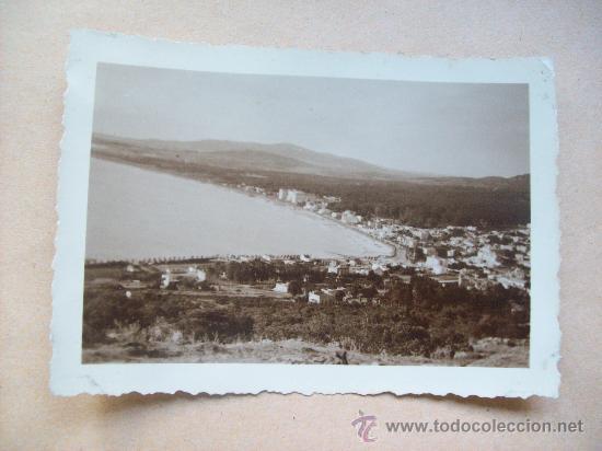 VISTA BALNEARIO PIRIAPOLIS DESDE EL CERRO SAN ANTONIO 1950 (Fotografía Antigua - Fotomecánica)