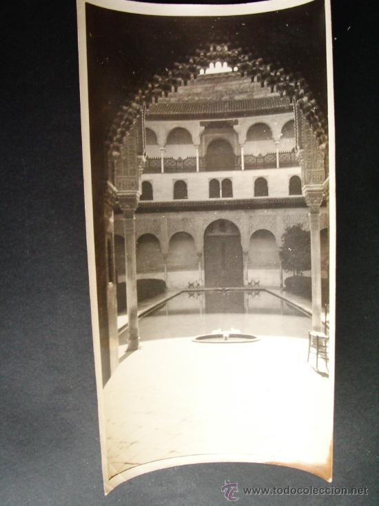 1927- PATIO DE LOS ARRAYANES. ALHAMBRA DE GRANADA. FOTOGRAFÍA ORIGINAL. (Fotografía Antigua - Fotomecánica)