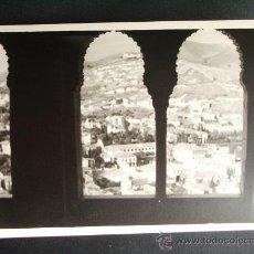 Fotografía antigua: 1954- VISTA DE GRANADA DESDE LA ALHAMBRA. GRANADA. FOTOGRAFÍA ORIGINAL.. Lote 32073071