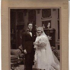Fotografía antigua: FOTOGRAFIA DE BODA - FOTOGRAFO ALFONSO - MADRID AÑOS 30. Lote 32564680