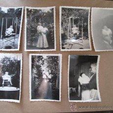 Fotografía antigua: 1940 BEBÉ HAMACA MADRE ABUELA. GRAND-MAMAN MÈRE DU BÉBÉ HAMAC. GRANDMA MOTHER BABY HAMMOCK - 7 PHOT. Lote 33006105