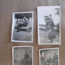 Fotografía antigua: JOVENES ELEGANTES. ELEGANT YOUNG. ÉLÉGANTE JEUNE - 4 PHOTOS. Lote 33025597