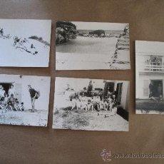 Fotografía antigua: JOVENES CASA PLAYA. BEACH HOUSE JEUNE. BEACH HOUSE YOUNG 5 PHOTOS. Lote 33136508