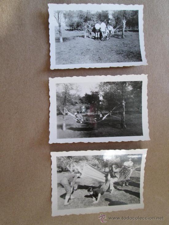 HAMACA PARAGUAYA JOVENES JARDIN.HAMAC JARDIN JEUNE. YOUNG GARDEN HAMMOCK - 3 PHOTOS (Fotografía Antigua - Fotomecánica)