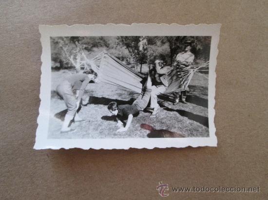 Fotografía antigua: HAMACA PARAGUAYA JOVENES JARDIN.Hamac jardin Jeune. YOUNG GARDEN hammock - 3 PHOTOS - Foto 2 - 33136524