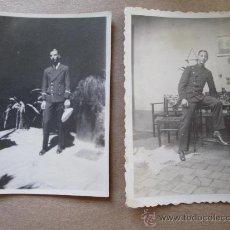 Fotografía antigua: JOVEN MILITAR - YOUNG MILITARY - JEUNE MILITAIRE - 2 PHOTOS. Lote 33147869