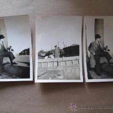 Fotografía antigua: FLEETWOOD ELEGANTE HOMBRE. ELEGANT MAN. 3 PHOTOS. Lote 33147882