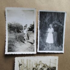 Fotografía antigua: URUGUAY 1958, PERSONAS EN CHACRA DE TOLEDO CANELONES, 3 PHOTOS. Lote 33244696