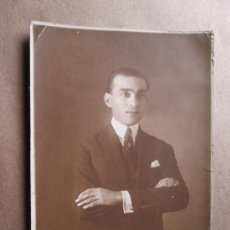 Fotografía antigua: HOMBRE ELEGANTE, ELEGANT MAN, HOMME ÉLÉGANT, URUGUAY FOTO SIGLO XX SEPIA.. Lote 33519501