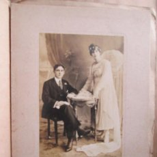 Fotografía antigua: FOTO DE BODA, WEDDING PHOTO, FOTO DE BODA, SEPIA, CIRCA 1900. Lote 33533089