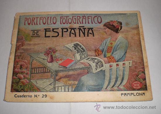 PORTAFOLIO FOTOGRÁFICO DE ESPAÑA: Nº 29 PAMPLONA (Fotografía Antigua - Fotomecánica)