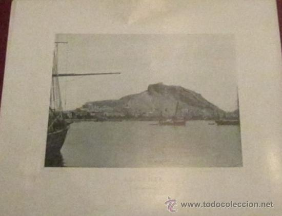 FOTOTIPIA ALICANTE VISTA GENERAL HAUSER Y MENET AÑO 1892 (Fotografía Antigua - Fotomecánica)