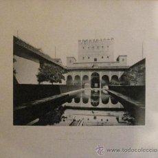 Fotografía antigua: FOTOTIPIA GRANADA ALHAMBRA: PATIO DE LOS ARRAYANES HAUSER Y MENET AÑO 1892 SIGLO XIX . Lote 33673078