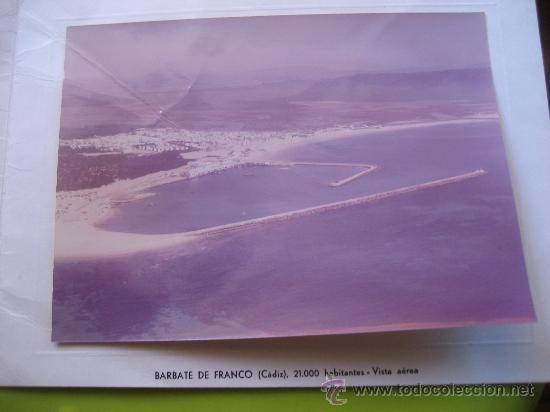 Fotografía antigua: Barbate de Franco. Cadiz. Foto aerea y felicitacion.17 x 13 cms. - Foto 3 - 34007567