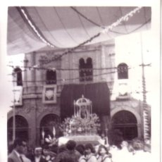 Fotografía antigua: CORPUS DE SEVILLA - FOTOGRAFIA ALTAR PLAZA SAN FRANCISCO 7X10. Lote 33902053