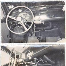 Fotografía antigua: SEAT 600 - FOTOS INTERIOR COCHE ADAPTADO A MINUSVALIA - AÑOS 60. Lote 34020090