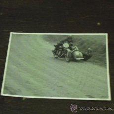Fotografía antigua: FOTO CARRERA MOTO SIDECAR. Lote 34052653