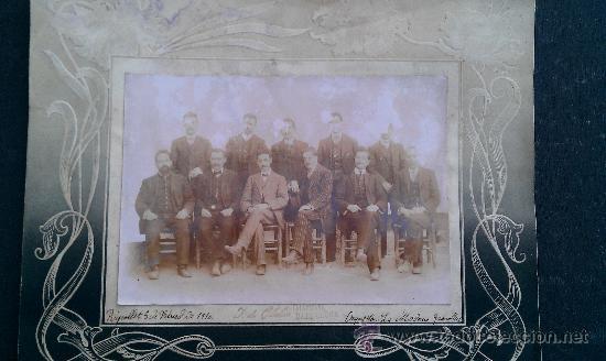 1910. FOTOGRAFIA ORQUESTA LA MODERNA GRANOLLERS RIPOLLET EMILIO MARLET MUSICA CARNAVAL (Fotografía Antigua - Fotomecánica)