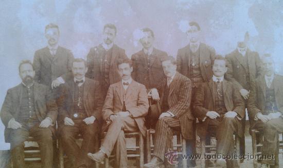 Fotografía antigua: 1910. FOTOGRAFIA ORQUESTA LA MODERNA GRANOLLERS RIPOLLET EMILIO MARLET MUSICA CARNAVAL - Foto 3 - 34163137
