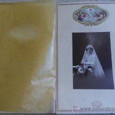 Fotografía antigua: FOTOGRAFÍA DE PRIMERA COMUNION DE MODERN STUDI PELLICER RONDA SAN PABLO 16 BARCELONA. Lote 34945589