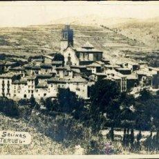 Fotografía antigua: ARCOS DE LAS SALINAS (TERUEL) FOTOGRAFIA GRAN FORMATO. Lote 35043325