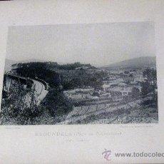 Fotografía antigua: FOTOTIPIA PONTEVEDRA REDONDELA VISTA GENERAL HAUSER Y MENET AÑO 1892 SIGLO XIX. Lote 35258844