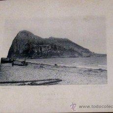 Fotografía antigua: FOTOTIPIA GIBRALTAR VISTA GENERAL DEL PEÑÓN HAUSER Y MENET AÑO 1892 SIGLO XIX. Lote 35258885