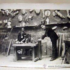 Fotografía antigua: FOTOGRAFIA ANTIGUA, ANTIGUO TALLER U OBRADOR, ESCAYOLISTA, VALENCIA, 1930S. Lote 35899614