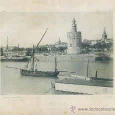 Fotografía antigua: LAMINA FOTOGRAFICA ANTIGUA. SEVILLA. TORRE DEL ORO Y RIO GUADALQUIVIR AÑO 1893 LAMFOTO-006. Lote 36393776