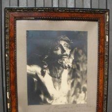 Fotografía antigua: FOTOGRAFIA DE 1931 DEL SMO. CRISTO DE LAS MISERICORDIAS. PARROQUA STA. CRUZ SEVILLA. VER DESCRIPCION. Lote 37360493