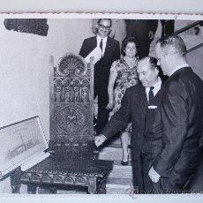 Fotografía antigua: FOTOGRAFÍA DE DON MANUEL FRAGA IRIBARNE, INAUGURACION EXPOSICION EN MALLORCA, 1966 . Lote 37503670
