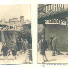 Fotografía antigua: 2 FOTOGRAFÍAS .. CASA DEL GRECO .. TOLEDO. Lote 37576861