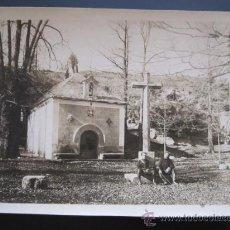 Fotografía antigua: ANTIGUA FOTOGRAFÍA MILITARES EN MONASTERIO DEL PAULAR, RASCAFRÍA (MADRID). ERMITA VIRGEN DE LA PEÑA.. Lote 37616381