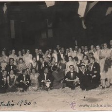 Fotografía antigua: HUELVA, 1930, BAILE EN EL DIQUE DE VIAS Y RIEGOS,13X9. Lote 37621282