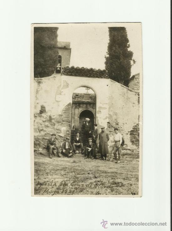 ANTIGUA FOTOGRAFIA POSTAL IGLESIA DE STA. CRUZ DE OLARDE, BARCELONA, MAYO 1921, MOVIMIENTO (Fotografía Antigua - Fotomecánica)
