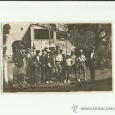 Fotografía antigua: ANTIGUA FOTOGRAFIA POSTAL AL MONASTERIO DE SAN MIGUEL DEL FAY, BARCELONA, JUNIO 1921, MOVIMIENTO. Lote 37781070
