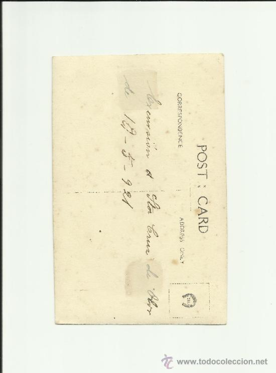 Fotografía antigua: ANTIGUA FOTOGRAFIA POSTAL IGLESIA DE STA. CRUZ DE OLARDE, BARCELONA, MAYO 1921, MOVIMIENTO - Foto 2 - 37780996