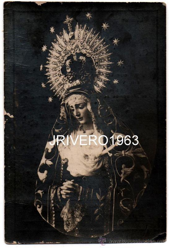 VALVERDE DEL CAMINO,1929, VIRGEN DE LOS DOLORES, 12X8, RARISIMA FOTO, REVERSO ESQUELA (Fotografía Antigua - Fotomecánica)