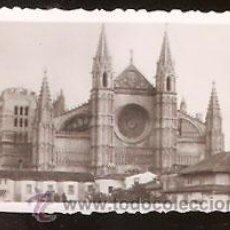 Fotografía antigua: FOTO * PALMA DE MALLORCA , CATEDRAL * AÑO 1951. Lote 37926352