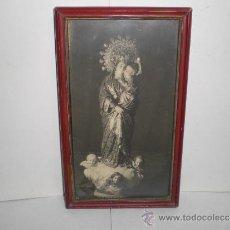 Fotografía antigua: ANTIGUA FOTOGRAFIA DE VIRGEN CON NIÑO - REYMUNDO - CADIZ. Lote 38126478