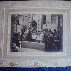 Fotografía antigua: (FOT-201)FOTOGRAFIA DE LA VISITA DEL MARQUES DE FORONDA EN UBEDA(JAEN)INAGURACION. Lote 38169936