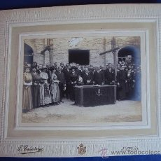 Fotografía antigua: (FOT-202)FOTOGRAFIA DE LA VISITA DEL MARQUES DE FORONDA EN UBEDA(JAEN)INAGURACION. Lote 38169962