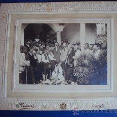 Fotografía antigua: (FOT-203)FOTOGRAFIA DE LA VISITA DEL MARQUES DE FORONDA EN UBEDA(JAEN)INAGURACION. Lote 38169989