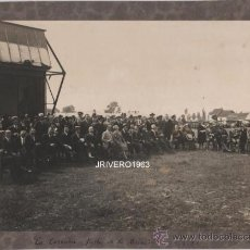 Fotografía antigua: CORUÑA,1921, FIESTA DE LA AVIACION, 227X166MM, UNA JOYA. Lote 38409222